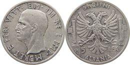 5 Lek 1939 Albania KM#33 - Albanië