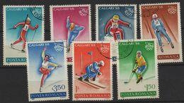 JO88-H3 - ROUMANIE Série De 7 Val. Obl. Jeux Olympiques D'hiver 1988 - 1948-.... Repubbliche