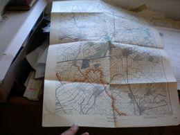 Vrsac Versecz WW2 Map Vojnogeografski Institut Beograd 1940 48x63 Cm Banat - Topographical Maps