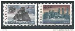 Norvège 1992 N°1053/1054 Neufs** Europa Découverte De L'Amérique, Bateau Voilier - Unused Stamps
