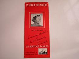 """Suzy DELAIR - Disques """"LA VOIX DE SON MAITRE"""" - Supplément N°5 01-02-1953 - Les Nouveaux Disques (dépliant 4 Volets) - Musica & Strumenti"""