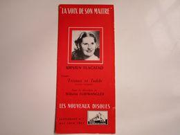 """Kirsten Flastad - Disques """"LA VOIX DE SON MAITRE"""" - Supplément N°7 05-06-1953 - Les Nouveaux Disques (dépliant 6 Volets) - Musica & Strumenti"""
