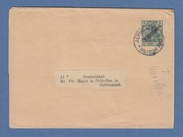 DAP Türkei Streifband Nr. S6 Gest. JERUSALEM 1910, Abs. Syrisches Waisenhaus - Zonder Classificatie