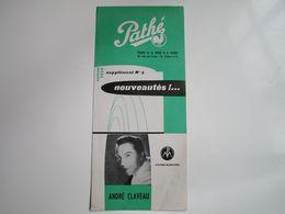 André CLAVEAU - Disques PATHE - Supplément N°8 Saison1956 - Les Nouveaux Disques (dépliant 2 Volets) - Musica & Strumenti