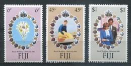 Fiji Fidschi-Inseln Mi# 436-8 Postfrisch MNH - Diana And Charles Wedding - Fidji (1970-...)
