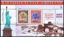 Greenland Scott #293-95 VF  1995 America Series Souvenir Sheets - Neufs