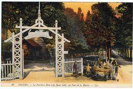 Amiens / Pavillon Bleu / Basse Selle  / Parc De La Hotoie / CPA Colorisée / Ed. LL - Amiens