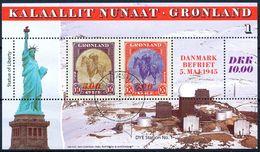 Greenland Scott #293-95 VF Used 1995 America Series Souvenir Sheets Lot2 - Groenland