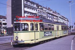 Reproduction D'une Photographie D'un Tramway Ligne 8 Avec Publicité Cloppenburg à Wuppertal En Allemagne En 1971 - Reproducciones