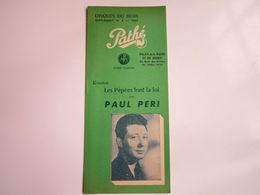 Paul PERI - Disques PATHE - Supplément N°2 Saison1955 - Disques Du Mois (8 Pages) - Musica & Strumenti