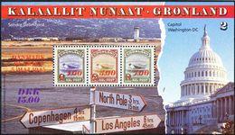 1995 GREENLAND AMERICA SOUVENIR SHEET SCOTT # 294a - Neufs
