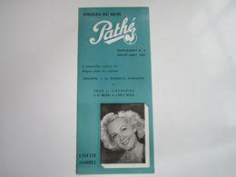 Lisette JAMBEL - Disques PATHE - Supplément N°8 Saison1953 - Disques Du Mois (dépliant 3 Volets) - Musica & Strumenti