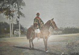 Brésil. Un Gaucho à Rio Grande Do Sul. Photogravure Fin XIXe. - Prints & Engravings