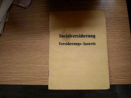 Sozialversicherung Versicherungs Ausweis Berlin - Documenti Storici