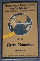 Kreis Namslau / Carl Flemming U. C. T. Wiskott [reprint]. Poland, Schlesien, Namyslow, Namysłów - Topographical Maps