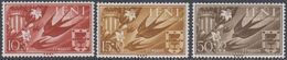 Ifni 1958 - Charity Stamps For Valencia: Barn Swallow & Coat Of Arms - Mi 171-173 ** MNH - Ifni