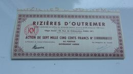 RIZIERES D'OUTREMER - Shareholdings