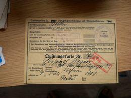 Quittungstarte Berlin 1930 Polizei Invalidenvers Stamps - Documenti Storici
