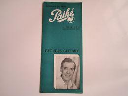 Georges GUETARY - Disques PATHE - Supplément N°5 Saison1953 - Disques Du Mois (dépliant 3 Volets) - Musica & Strumenti