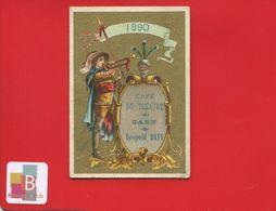 CAEN Café Du Théâtre Léopold Davy Superbe Calendrier 1890 Complet   Chromo Or Hutinet Bognard ? - Kalender