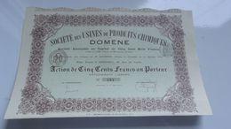USINES DE PRODUITS CHIMIQUE DE DOMENE (grenoble,isère) - Acciones & Títulos