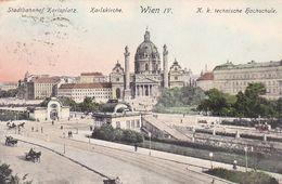 AK Wien - Karlskirche - Stadtbahnhof Karlsplatz - K.k. Technische Hochschule - Ca. 1910 (51236) - Churches