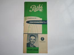 Philippe GERARD - Disques PATHE - Supplément N°1 Saison1956 - Nouveautés (8 Pages) - Musica & Strumenti