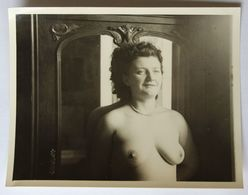 Photographie Ancienne Jeune Femme Seins Nus érotisme Nu Féminin - Fine Nude Art (1921-1940)