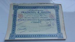 FRAENCKEL & HERZOG (1925) Elbeuf , Seine Maritime - Acciones & Títulos