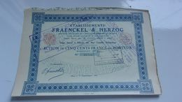 FRAENCKEL & HERZOG (1925) Elbeuf , Seine Maritime - Shareholdings