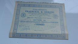 FRAENCKEL & HERZOG (1943) Elbeuf , Seine Maritime - Acciones & Títulos