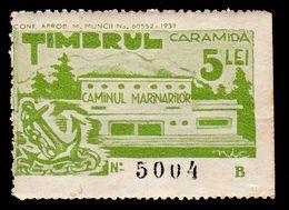 ROUMANIE / ROMANIA - CINDERELLA / TIMBRU CARAMIDA : 5 LEI - CAMINUL MARINARILOR - FUND RAISING For SAILORS - 1937 (af081 - Fiscali