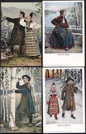 6 X SWEDEN - SUEDE ** DALARNE RATTVIK ** COSTUME FOLKLORIQUE - ETHNIC COSTUMES - SWEDISCHER TRACHT - Folclore