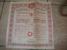 1 Titre Au Porteur ROYAUME DE YOUGOSLAVIE Emprunt Or 1931 Belgrade - Banco & Caja De Ahorros