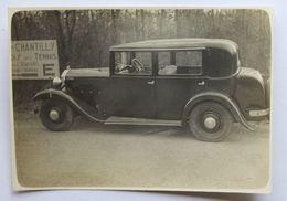 Photographie Ancienne Belle Voiture à Identifier Renault ? Peugeot ? Panhard ? à Chantilly Golf Et Tennis - Cars