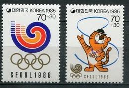 Süd Korea Mi# 1400-1 Postfrisch MNH - Olympics Seoul 88 - Korea (Süd-)