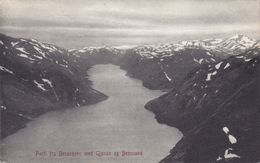 Norway PPC Parti Fra Bessegen Med Gjende Og Bessuand VINSTRA 1908 Fortunvej CHARLOTTENLUND (Arr.) Denmark (2 Scans) - Norvège