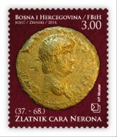 2014 Numismatics. Gold Coin Of Emperor Nero, N° 390, Croat Post Mostar, Bosnia And Herzegovina - Bosnien-Herzegowina