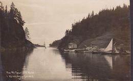 Norway PPC Fra S/Y Tourists Rute I Kristianiafjorden 'National A/S' KRISTIANIA 1908 Sanatorium VINSTRA Echte Real Photo - Norvège