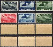 "ITALIA - 1945 - SERIE ""DEMOCRATICA"" - FILIGRANA RUOTA - MNH - 6. 1946-.. Republik"