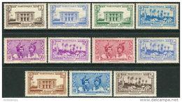 Martinique 1939/40. Yvert #175/85 MNH/Luxe. Architecture, Buildings. Native Motifs (Ts48) - Nuovi