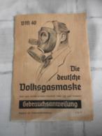 Die Deutsche Volksgasmaske  Im Originalkarton.VM40 - Equipaggiamento