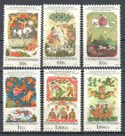 Czechoslovakia 1968 - Fairy Tales - Butterflies Mi 1844-1849 - MNH(**) - Farfalle