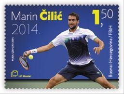 2014 Sport, Tennis, Marin Čilić, N° 388, Croat Post Mostar, Bosnia And Herzegovina, MNH - Bosnien-Herzegowina