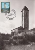 Carte  Maximum   ANDORRE   SAN  MIGUEL   D' ENGOLASTERS   1977 - Andorra Española