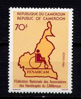 CAMEROUN  - N° 807° - MFEDERATION NATIONALE DES HANDICAPES - Camerún (1960-...)