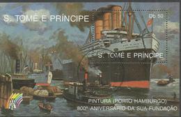"Sao Tome Und Principe Block 201 ""Schiffahrt: Bug Des Imperator "" Gestempelt Mi.: 7,00 - Sao Tome En Principe"