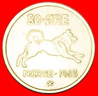 · DOG (1958-1973): NORWAY ★ 50 ORE 1963! LOW START ★ NO RESERVE! - Norwegen
