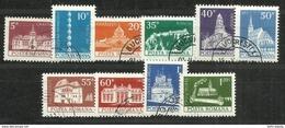 """Rumänien 3157-3166 """"10 Briefmarken Im Satz Freimarken Baudenkmäler Kpl."""" Gestempelt Mi. 0,70 € - 1948-.... Repubbliche"""
