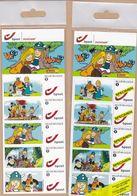 Duostamps Duostamp Dessin Animé Vic Le Viking Avec Exemplaire Utilisable Et Exemplaire SPECIMEN - Belgium